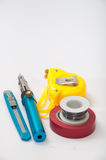 Hand tool for repairing electrical wiring Royalty Free Stock Photography