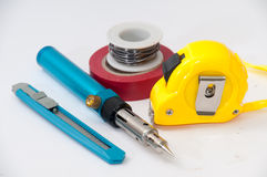 Hand tool for repairing electrical wiring Stock Images
