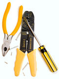 Hand tool set Royalty Free Stock Image