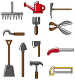 Hand tool silhouette collection vectors. Vector drawing Royalty Free Stock Photos