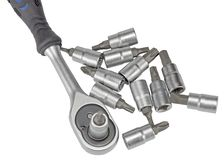 Hand tool on white Royalty Free Stock Image