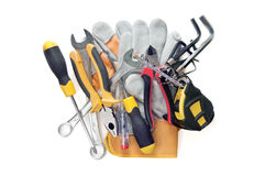 Hand tools. Isolated on a white Stock Image