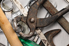 Hand tools. Royalty Free Stock Photography