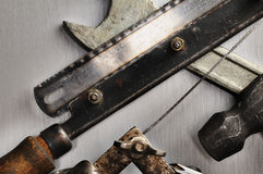 Hand tools. Royalty Free Stock Photos
