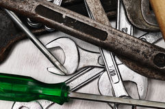 Hand tools. Royalty Free Stock Images