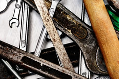Hand tools. Royalty Free Stock Photo