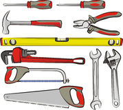 Hand tools. Do it yourself, hardware tools, handyman tools Stock Photo