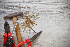 Hand tools Royalty Free Stock Photography