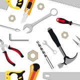 Hand tools background Royalty Free Stock Photography