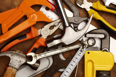 Hand tools close up Royalty Free Stock Photography