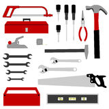 Hand Tools Collection. Is original artwork. The vector file is in AI-EPS8 format Royalty Free Stock Images