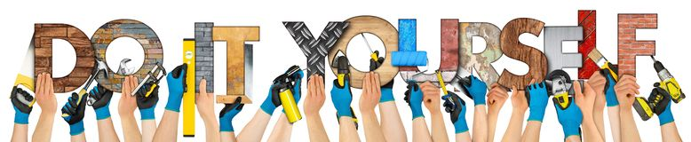 Do it yourself diy hand tools concept royalty free stock images