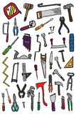 42 hand tools doodles Royalty Free Stock Photo
