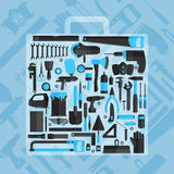 Hand tools icon set , flat design , eps10 vector format Royalty Free Stock Photography