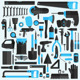 Hand tools icon set , flat design , eps10 vector format Royalty Free Stock Photos
