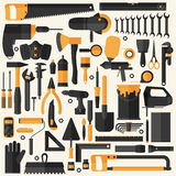 Hand tools icon set , flat design , eps10 vector format Royalty Free Stock Images