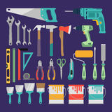 Hand tools icon set Stock Images