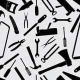 Hand tools icons pattern eps10 Stock Photo
