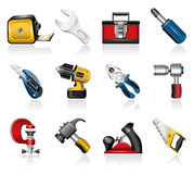 Hand tools icons Stock Photography