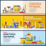 Hand tools for repare of house Stock Images