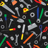 Hand tools seamless pattern. Stock Photography