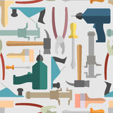 Hand tools seamless Pattern.  Vector background Royalty Free Stock Image