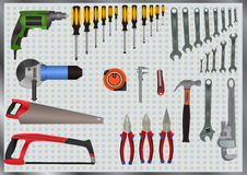 Hand Tools Set Royalty Free Stock Images