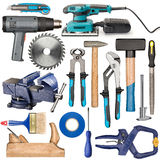 Hand tools set Royalty Free Stock Photo