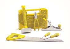 Hand tools set on white background. Original designed hand tools set on white background Stock Photo