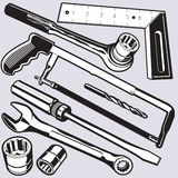 Hand Tools and Sockets Royalty Free Stock Images