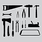 Hand tools stickers set eps10 Stock Photography