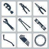 Hand tools vector icons Royalty Free Stock Photo