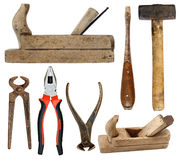 Hand tools on white background Stock Image