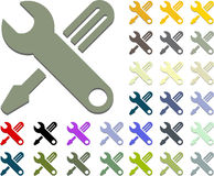Hand tools of wrench and screwdriver icon Royalty Free Stock Photo