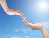 Hand touch Stock Images