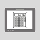Hand touch calculator financial. Vector illustration eps 10 Royalty Free Stock Image
