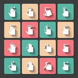 Hand touch gestures icons set. Touch screen hand gestures design elements for mobile user interface  vector illustration Royalty Free Stock Image