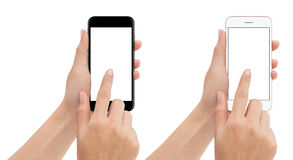 Free Hand Touch Phone Isolated With Clipping Path On White Background Royalty Free Stock Photos - 81662928