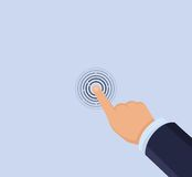 Hand touch screen royalty free illustration