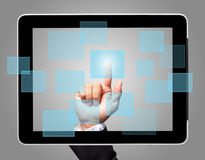 Hand touch screen virtual icon Royalty Free Stock Photo