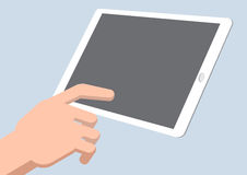 A hand touch tablet - Vector Illustration Royalty Free Stock Image