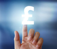 Hand touch virtual icon. In , money concept Stock Photography