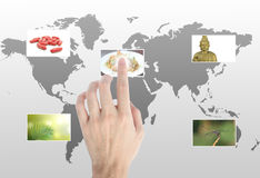 Hand touches Royalty Free Stock Images