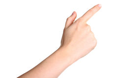hand touching or pointing to something Stock Photo