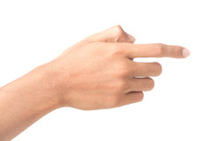 Hand touching screen Royalty Free Stock Image