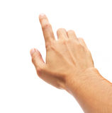 Hand touching screen Royalty Free Stock Photography