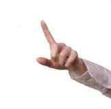 Hand touching screen Stock Photos