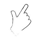 Hand touching something. Icon  illustration graphic design Stock Image