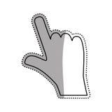 Hand touching something. Icon  illustration graphic design Stock Photography