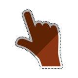 Hand touching something. Icon  illustration graphic design Royalty Free Stock Image